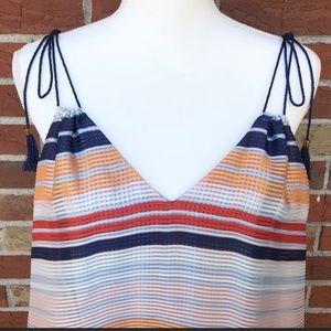 ☀️ RACHEL Rachel Roy Pinstripe Popover Maxi Dress